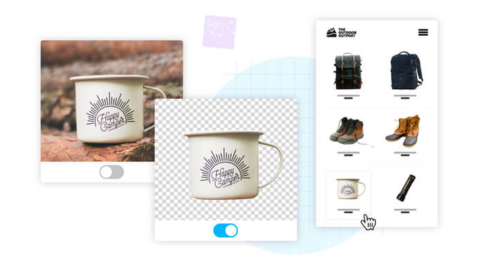 Remove background from product photography