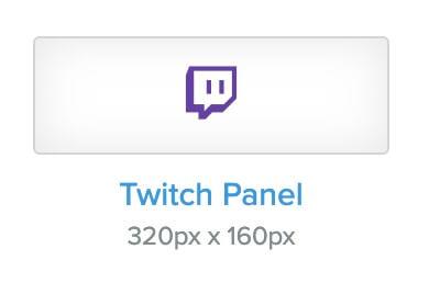Twitch panel templates