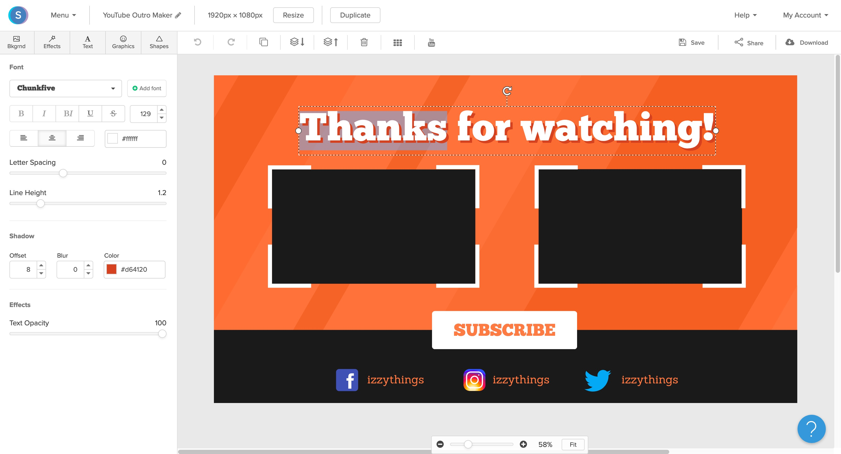 YouTube Outro maker