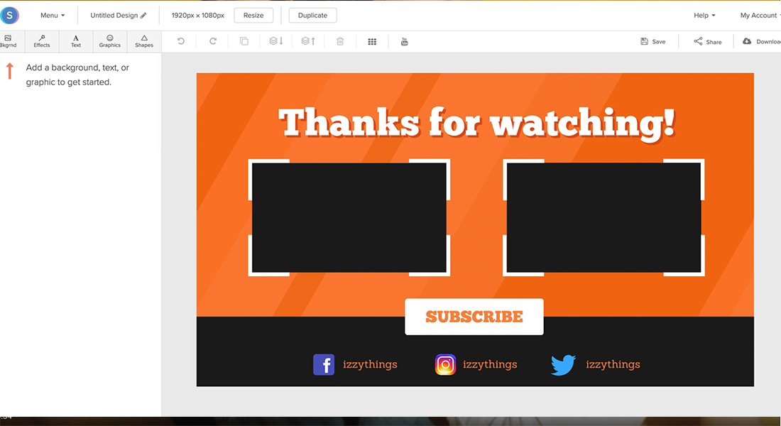 Online YouTube Outro Maker - Free & Easy to Use | Snappa