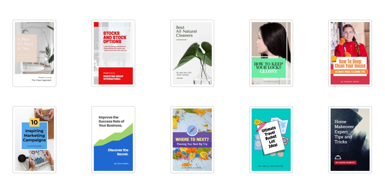 eBook templates