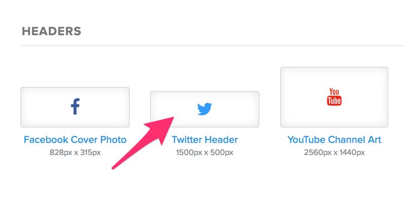 Twitter Header sizes